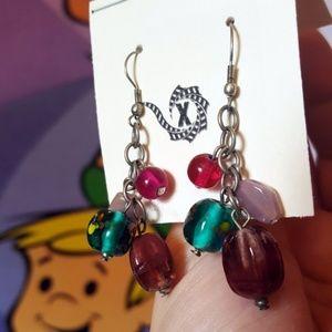 Artisan Spring Beaded Cluster Floral Earrings